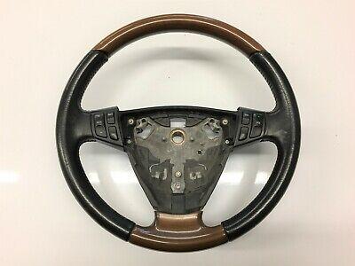 Saab 9-3 Wood leather steering wheel 2001 - 2007 p/n 12791542