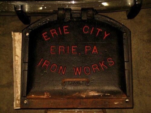 Historic Erie City Iron Works Large Boiler Door & Frame Erie, Pa.