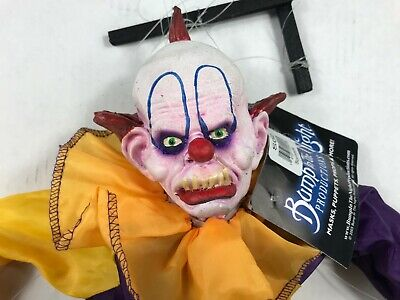 Scarabelle Scary Clown Puppet Marionette by bump in the night Productions
