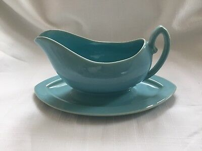 Vintage Pacific Pottery Coralitos Gravy Boat with attached Tray for sale  Wells