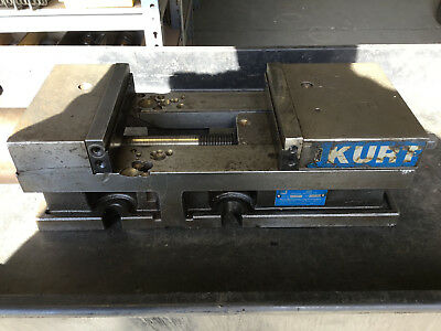 Kurt 3600-h Series Hydraulic 6 Versatile Milling Machine Vise W Snap Jaws