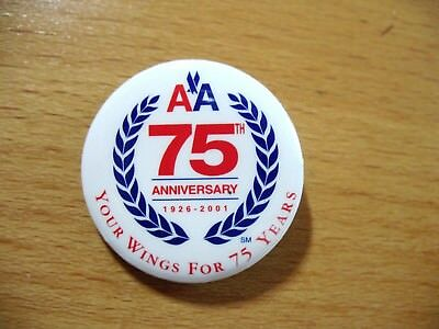 American Airlines  -  RARE collectible PIN -  75 YEAR ANNIVERSARY  1926 - 2001