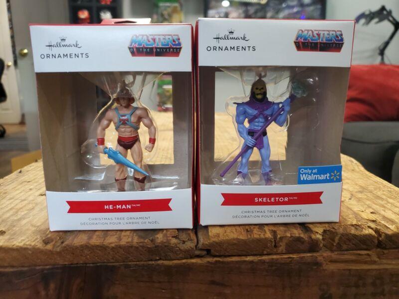 Masters of the Universe Hallmark Ornaments Skeletor and Heman