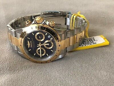 Invicta Men's 40mm Speedway Quartz Chronograph Blue Dial Two-tone Stainless Stee