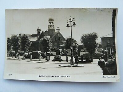 Thetford, Guildhall & Market Place. Vehicles, Traffic Signs, Real Photo, Friths, used for sale  Shipping to Nigeria