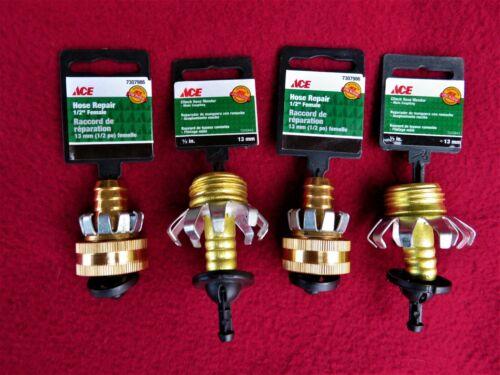 "1/2"" Ace Garden Brass Mender End Repair Kit Hose Connector Male & Female"