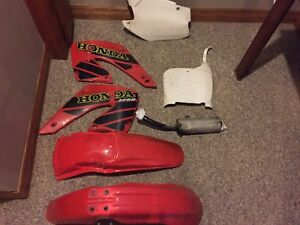 Honda dirt bike plastics