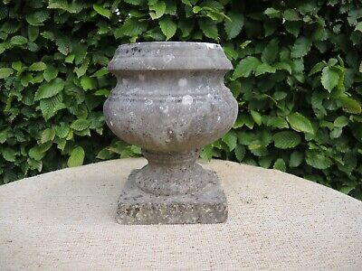 Small Antique Marble Stone  Garden Urn 24 cm high  (607)