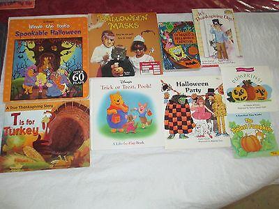 9 Fall Themed Books Pumpkin Halloween Thanksgiving Winnie the Pooh Spongebob