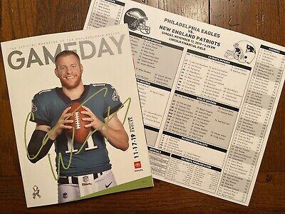 PHILADELPHIA EAGLES Gameday Magazine Vs New England Patriots 11.17.19 Free Ship