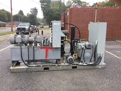 Vickers Parker Hydraulic Test Stand Iq-200 Laser On Line Particle Counter