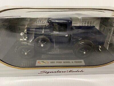 Signature Models 1/18 Scale 1931 Ford Model A Pickup Truck w/box Dark Blue