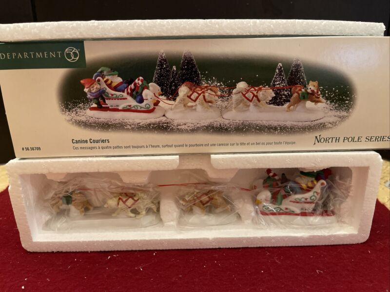 Department 56 Canine Couriers North Pole Series The Heritage Village - New Mint