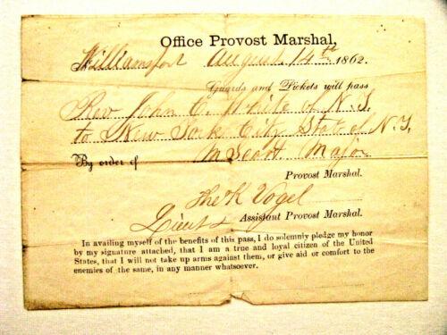 CIVIL WAR WILLIAMSPORT MARYLAND PASS