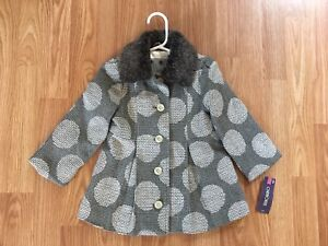 Cherokee fancy dress coat, size 2t, brand new with tags