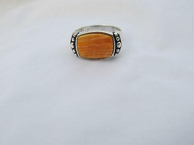 WJ Wilson Jim Sterling Silver Spiny Oyster Ring Southwestern size 8