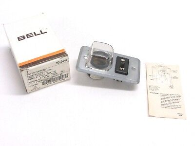Nos Bell Electric Plug Fuse Outlet And Single Pole Switch Mg654-a
