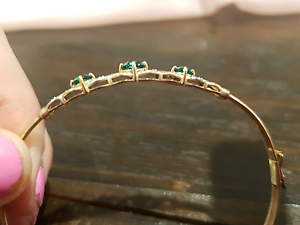 9ct gold Emerald bracelet Hillbank Playford Area Preview