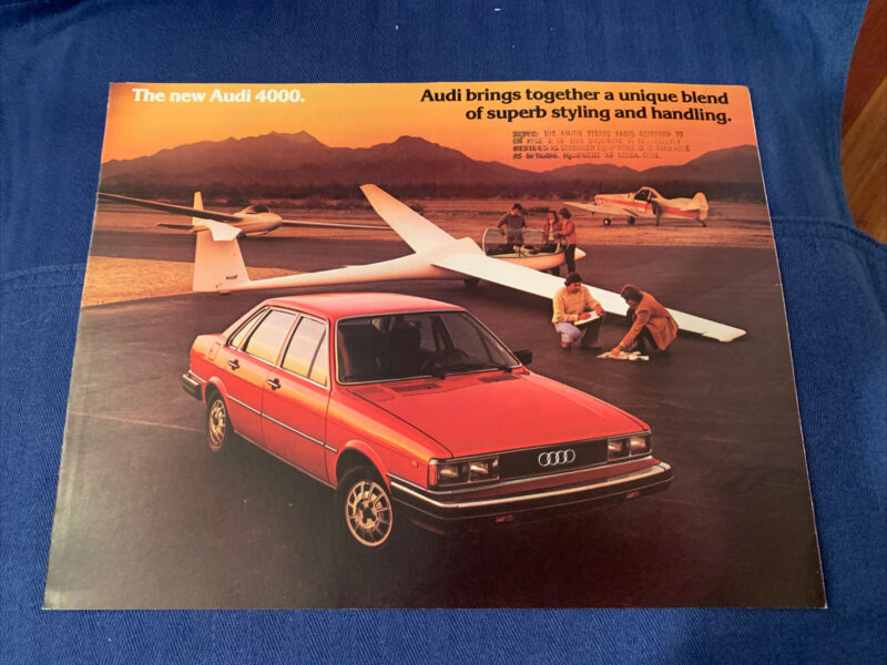 The New Audi 4000 Brochure Original Excellent  1980