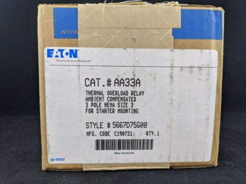 Eaton AA33A Thermal Overload Relay 3 Pole Size 3