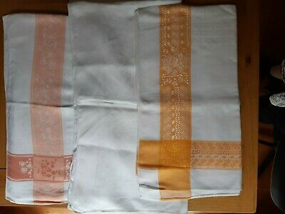THREE RECTANGULAR VINTAGE 1950s TABLECLOTHS