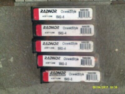 Lot Of 5 Radnor 1502 Oxweld Style Acetylene Cutting Tips 2 3s 2 4 1 6