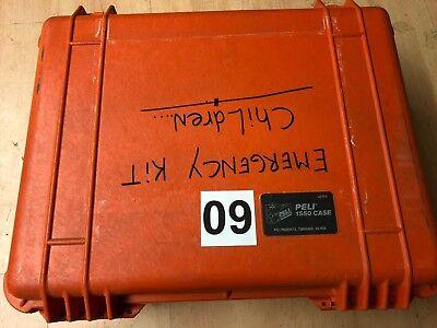 Peli Case Pelicase Hardigg 1550 Notfallkoffer ca. 52 cm 38 cm 24 cm orange