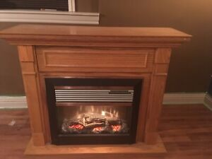 150 OBO. Dimplex artificial fireplace/heater great condition
