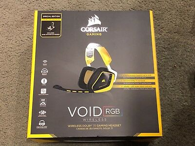 Corsair VOID SE RGB Wireless Gaming Headset - Yellow Jacket - NEW & SEALED