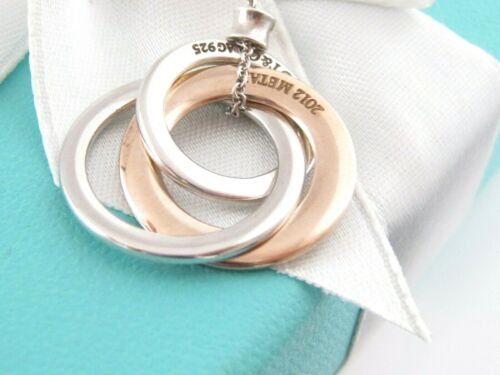 Tiffany & Co Silver Rubedo Interlocking Necklace 18 Inch