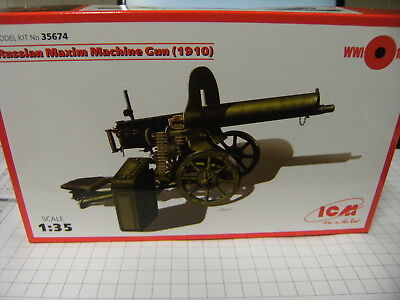 ICM 35674 1:35 Russian Maxim Machine Gun NEU OVP