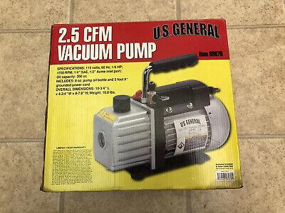 Us General 2.5 Cfm Refrigerator Air Condition Vacuum Pump 115v Mint 98076 U.s.