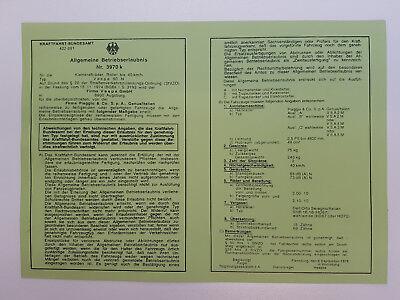 Vespa 50 N ABE Betriebserlaubnis