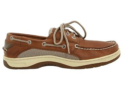 Men's Sperry Top-Sider Billfish 3-Eye Boat Shoes Dark Tan Leather All Sizes NIB