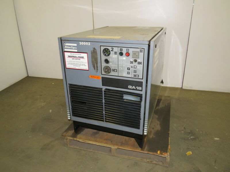 Atlas Copco GA 18 25 HP Rotary Screw Air Compressor 94.3 Cfm.