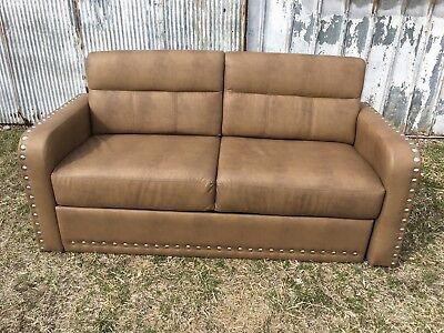 "Villa International 68"" Brown non-Sleeper Sofa couch Boat or RV motorhome coach"