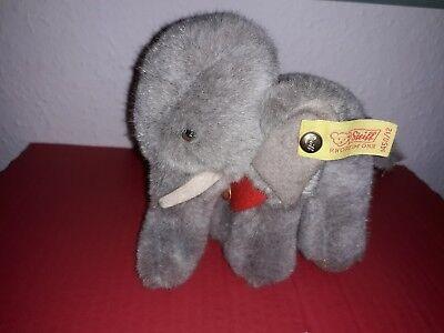 STEIFF  Elefant Jumbo - Nr. 1450/12 - grau - ca.12cm - Unbespielt