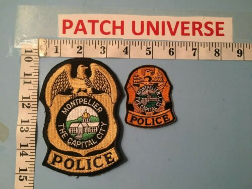 LOT OF TWO DIFFERENT MONTPELIER  VERMONT THE CAPITAL CITY  PATCHES  O021