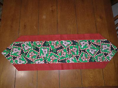 Christmas Table Runner - Rudolph & - Christmas Table