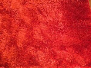 Burnt Orange Shag Pile Rug Carpet- as new! East Lindfield Ku-ring-gai Area Preview