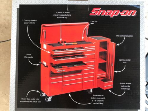 Snap On Tools Die Cast Replica 1:8 Scale Tool Chest/ Bank, NEW