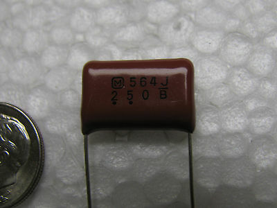 25 Panasonic .56uf 250v 5 Ecqe2564jf 15mm Lead Spacing Polyester Capacitors
