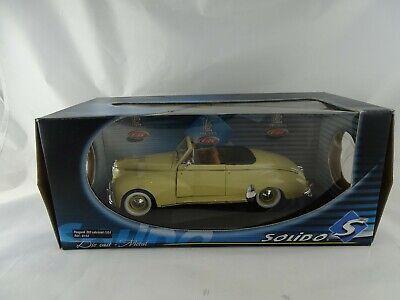 1:18 Solido 8155 1954 Peugeot 203 Cabriolet Crema