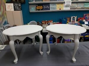 Pair of Chalk Painted End Tables