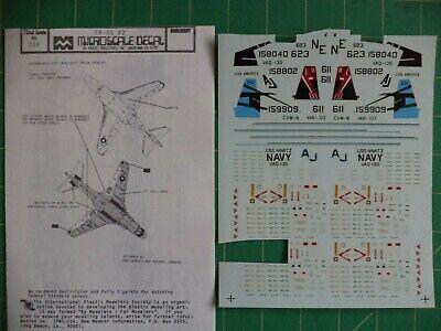 1:72 Scale Microscale Decal #AC72-0027 USA Navy /& Marines Grumman EA-6B Prowler