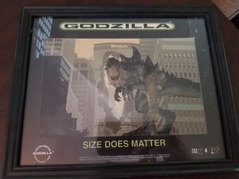 Godzilla CyberCene Cel 1998 ltd. ed. Size Does Matter framed