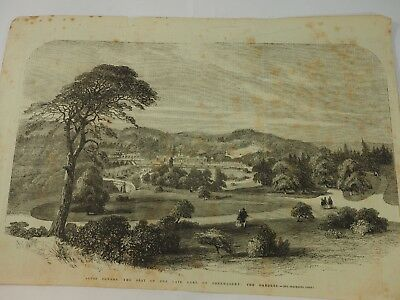 Alton Towers The Seat of The Late Earl of Shrewsbury The Gardens E.Vans Engravin