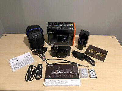 Sony DSC-RX100 III 20.1 MP Digital Camera with (2) Batteries, Wall Charger, Case