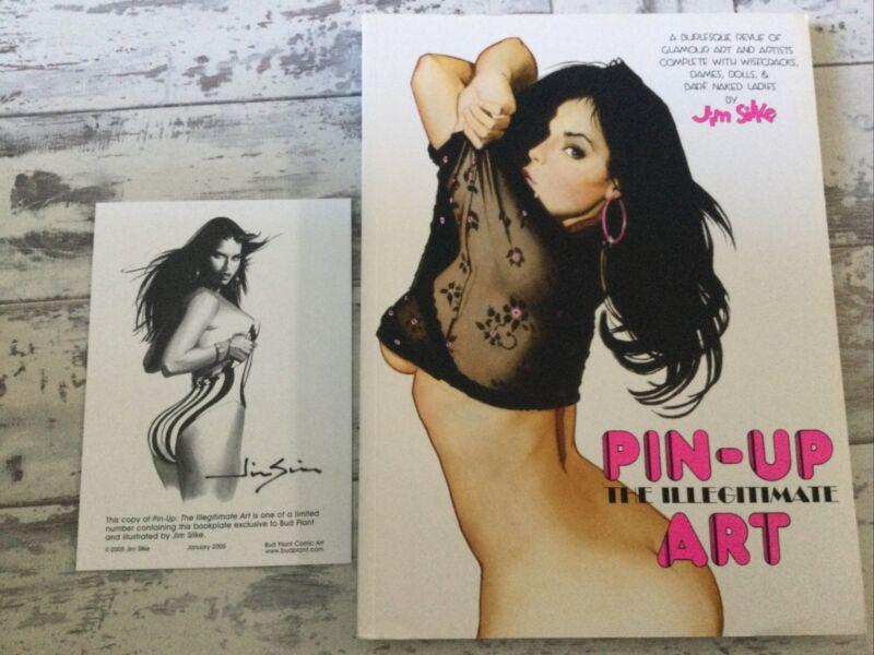 Rare Jim Silke Pin-up The Illegitimate Art Burlesque Glamour Revue Ltd Signed