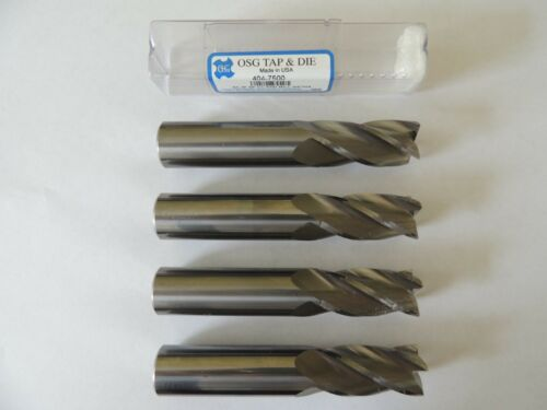 """LOT OF (4) 3/4"""" DIA. 4 Flute Solid Carbide End Mills"""